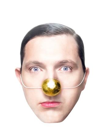 Marcel Wanders met z'n bekende gouden neus.