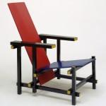 Rood blauwe stoel | Vroeg Dutch design van Gerrit Rietveld