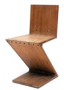 Vroeg Dutch design | Gerrit Rietveld zijn Zigzagstoel