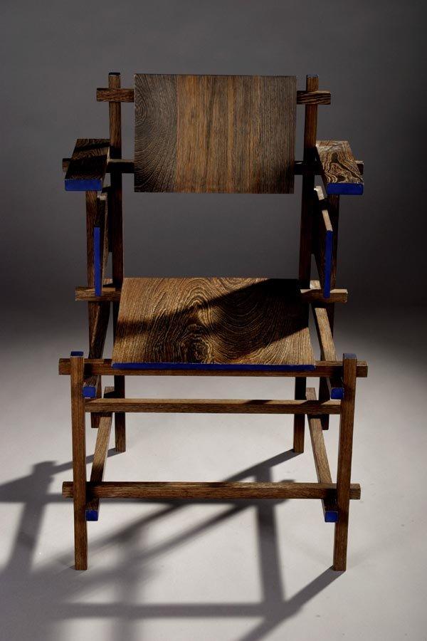 Hogestoel uit 1919 van Gerrit Rietveld