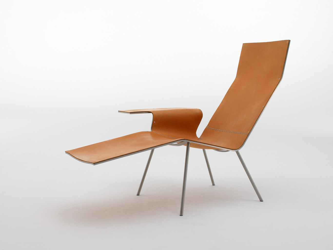 Lether Lounge chair van Maarten Van Severen voor Pastoe