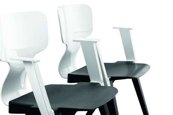Detail van de Ahrend 380 stoel