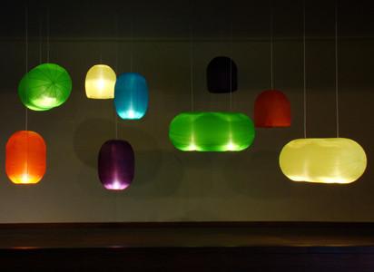 Verschillende kleuren Inflating lights Erik Stehmann