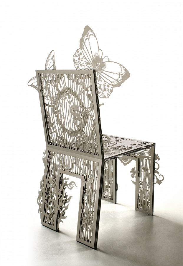 Achterkant van de Chair of textures van Tjep