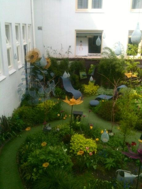 Hotel droog tuin
