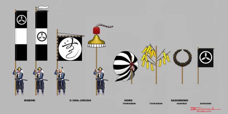 Voorbeelden Samurai vlaggen