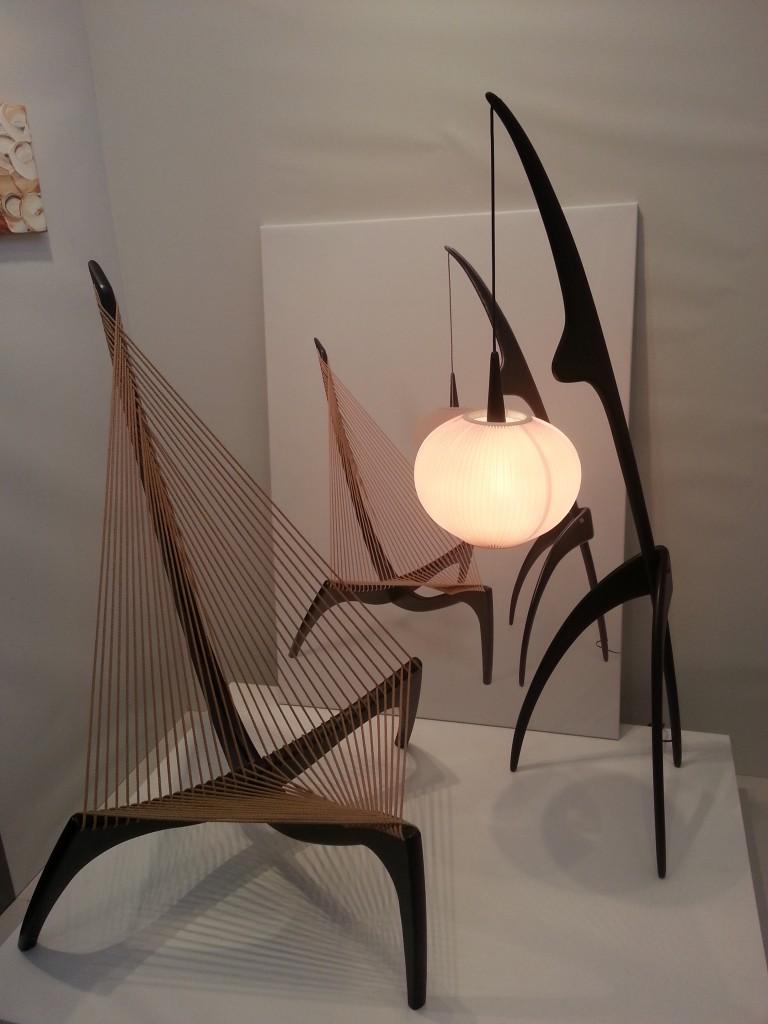 Jorgen Hovelskoy Harpchair en Rispal Floorlamp