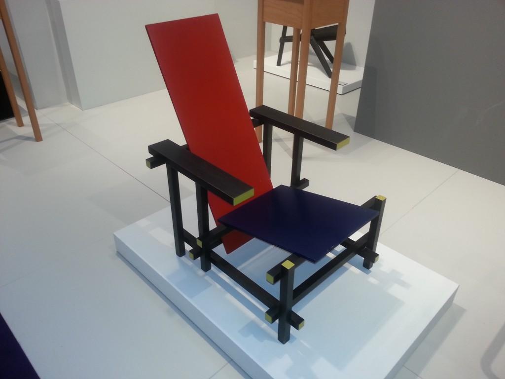 Rood-blauwe stoel Rietveld