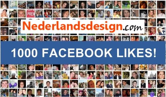 1000 likes Nederlandsdesign.com