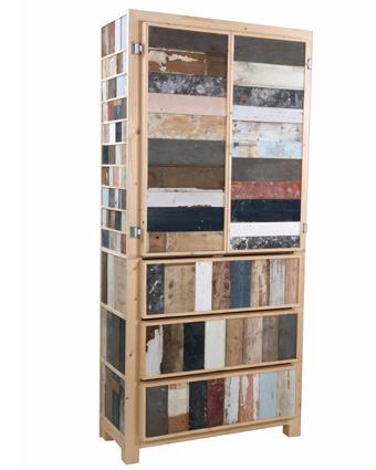 Klassieke kast in sloophout