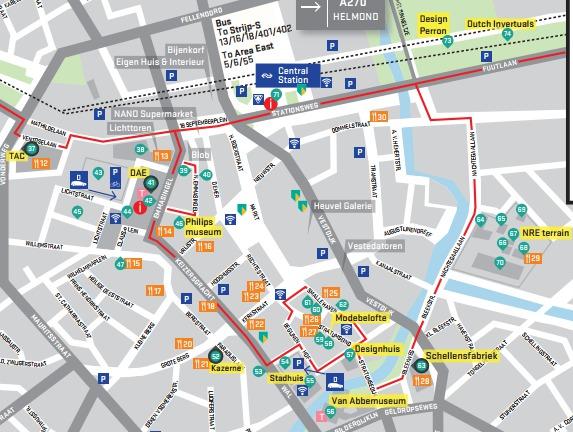 Dutch design week kaart centrum
