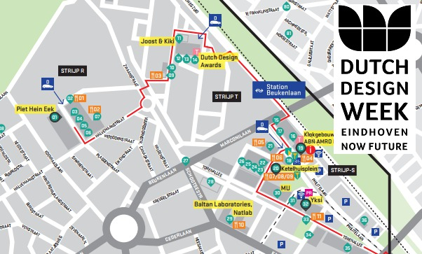 Dutch design week kaart strijp area