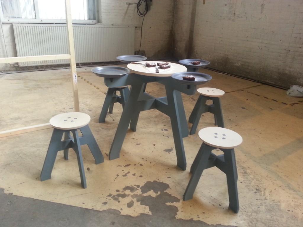 Oak tafel Folkert van der Kooij