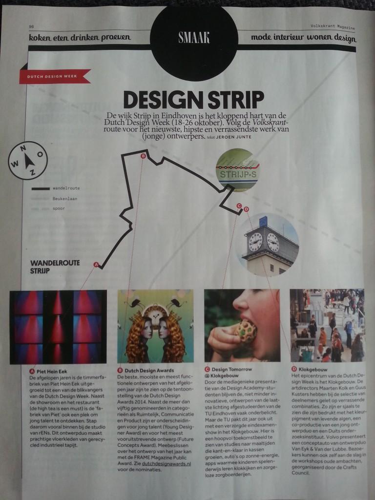 Route Dutch design week 2014