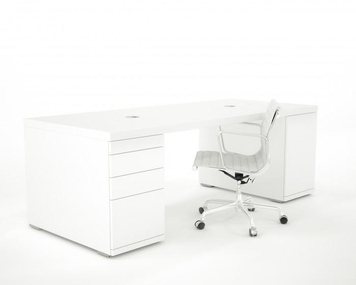 hoogglans wit bureau clean desk stijlapart. Black Bedroom Furniture Sets. Home Design Ideas