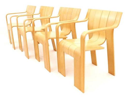 Stripstoel met leuning